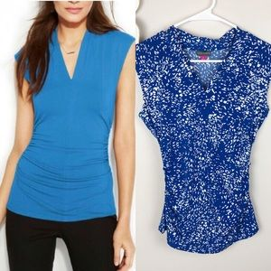 Vince Camuto top with side ruching